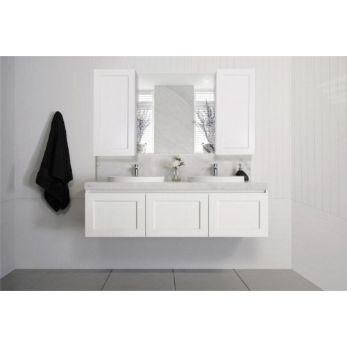 London 1500mm Double Bowl Wall Hung Vanity
