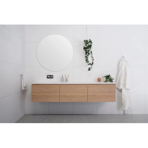 Snow 1800mm Offset Bowl Wall Hung Vanity