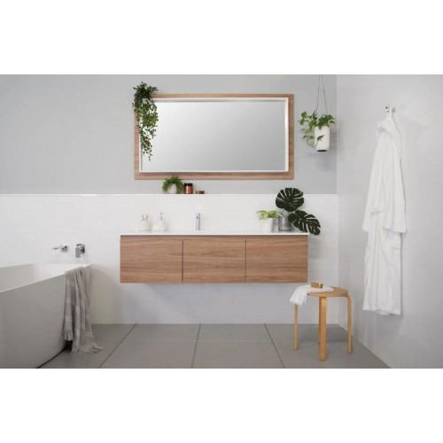 Summer 1500 Slim Wall Hung Vanity with Offset Bowl