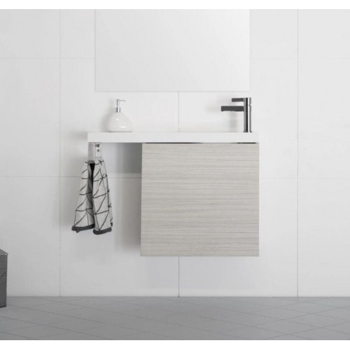 Petite 550mm Wall Hung Vanity With Integrated Towel Rail