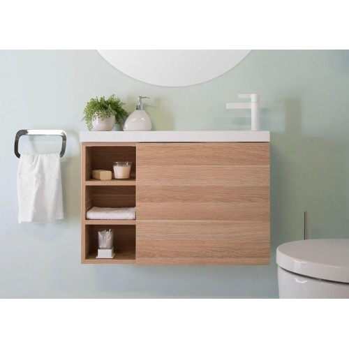 Pepite 800mm With Open Shelves Wall Hung Vanity