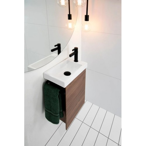 Seek 400mm Wall Hung Vanity/Gloss White Basin