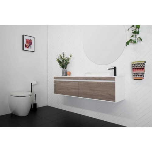 Simplicity 1500mm Ensuite Wall Hung Vanity Offset Bowl