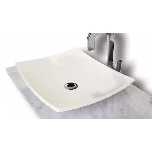 Innocence Counter Top Basin Solid Surface/Gloss White