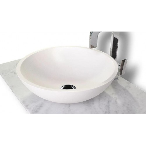 Karma Counter Top Basin Solid Surface/Gloss White