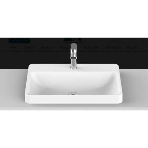 Courage Solid Surface Inset Basin/Gloss White