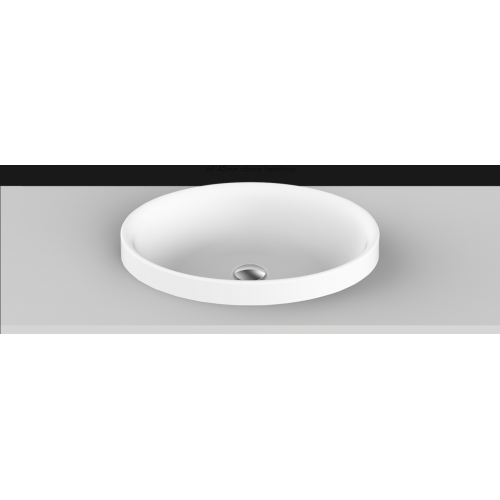 Dignity Solid Surface Inset Basin/Matte White