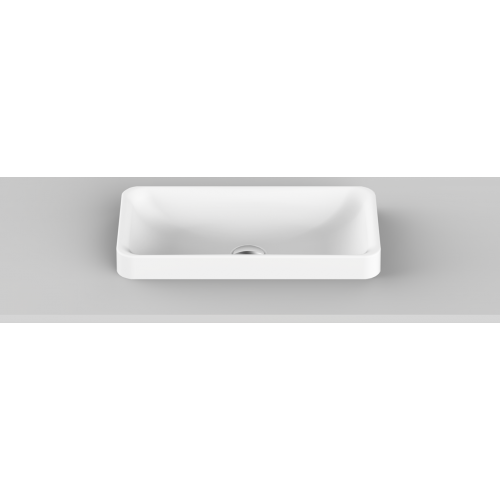 Faith Solid Surface Inset Basin/Matte White