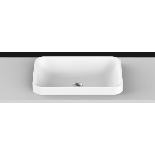 Pride Solid Surface Inset Basin/Matte White