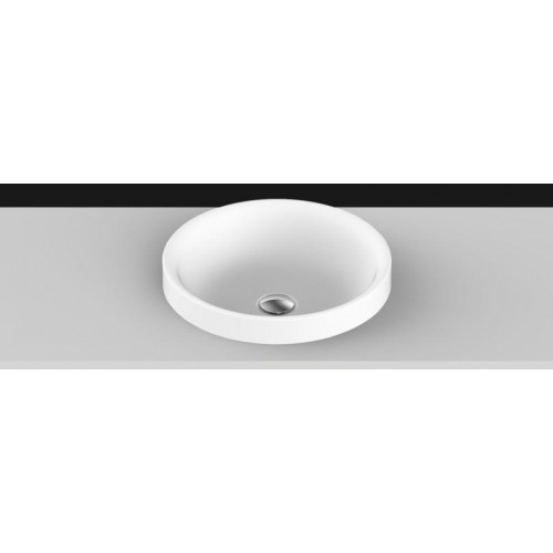 Respect Solid Surface Inset Basin/Matte White