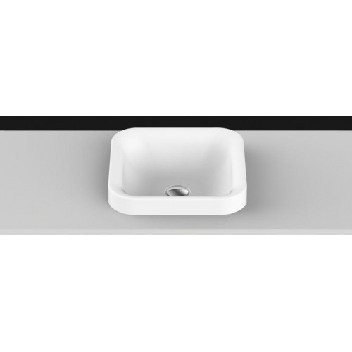 Truth Solid Surface Inset Basin/Matte White