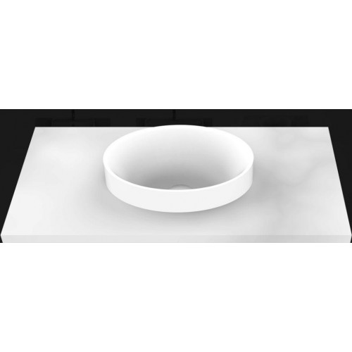 Joy Solid Surface Inset Basin/Matte White