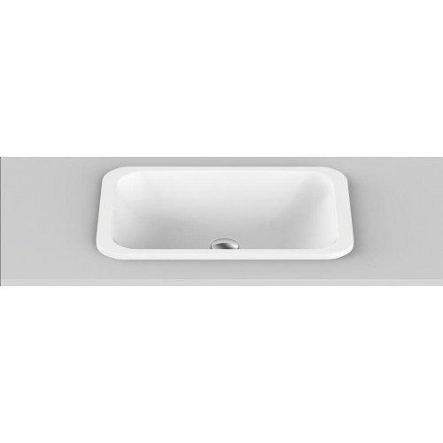 Glory Solid Surface Inset Basin/Gloss White