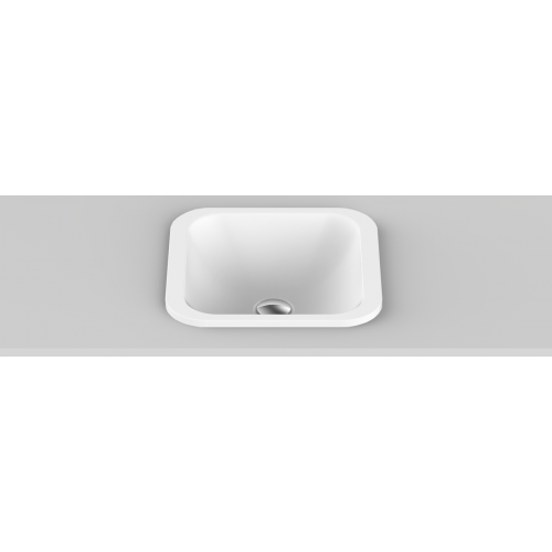 Honour Solid Surface Inset Basin/Gloss White