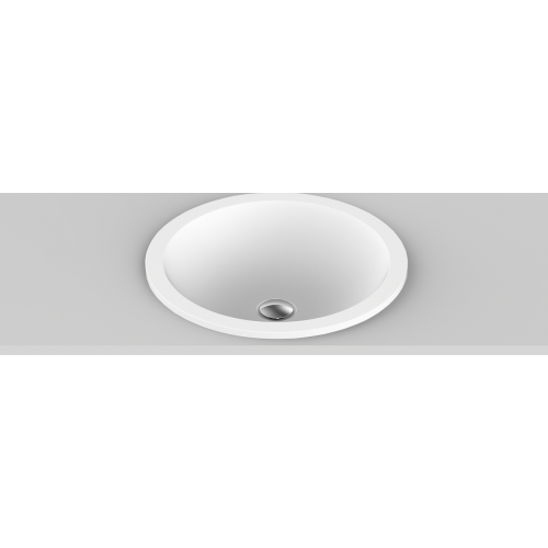 Peace Solid Surface Inset Basin/Matte White