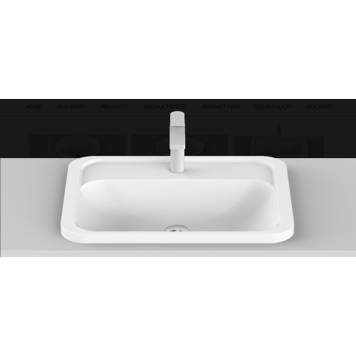 Strength Solid Surface Inset Basin/Gloss White