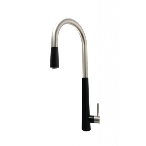 Vinco Bianco Lead Free Kitchen Mixer With Pull Out Function/Matte Black/Satin-SS