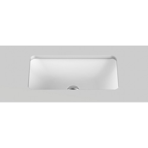 Glory Solid Surface Undercounter Basin/Matte White