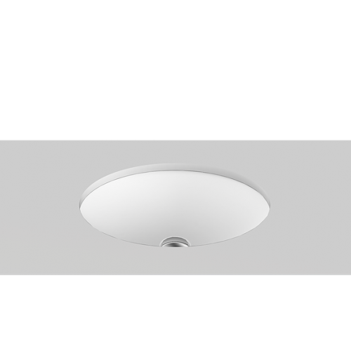 Sincerity Solid Surface Undercounter Basin/Matte White