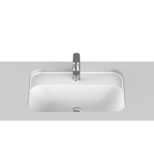 Strength Solid Surface Undercounter Basin/Gloss White