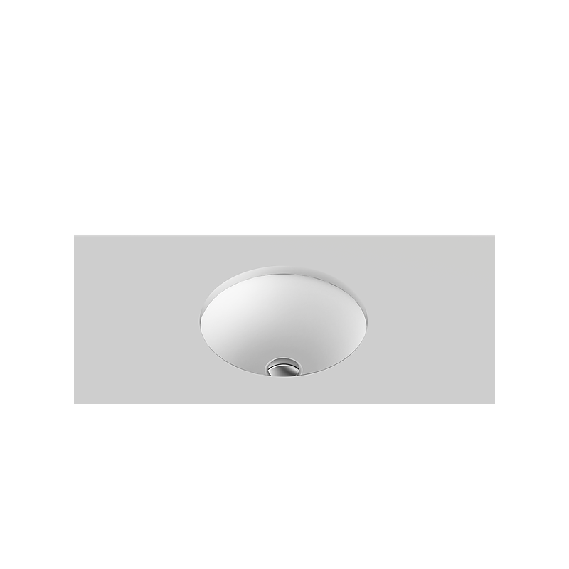 Unity Solid Surface Undercounter Basin/Matte White