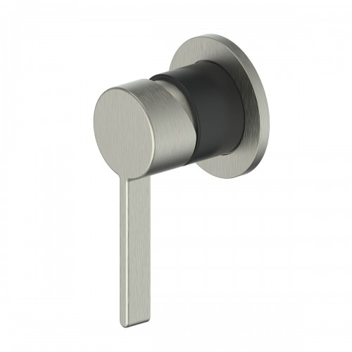 Glint Shower Bath Mixer/Brushed Nickel/Matte Black