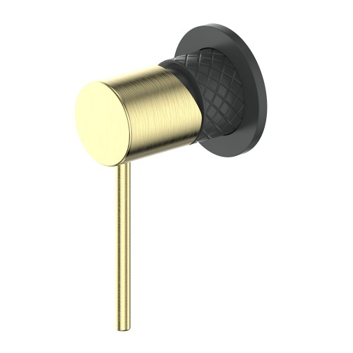Textura Shower Bath Mixer/Matte Black/Brushed Brass