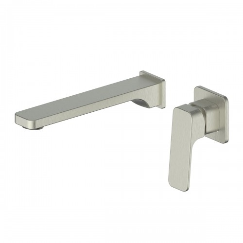 Swept Wall Basin Mixer/Brushed Nickel