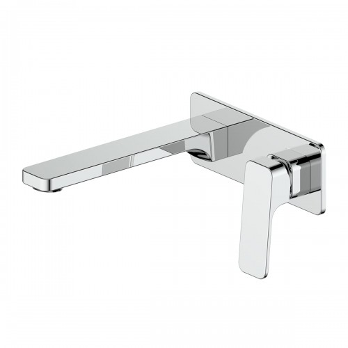 Swept Wall Basin Mixer W/plate