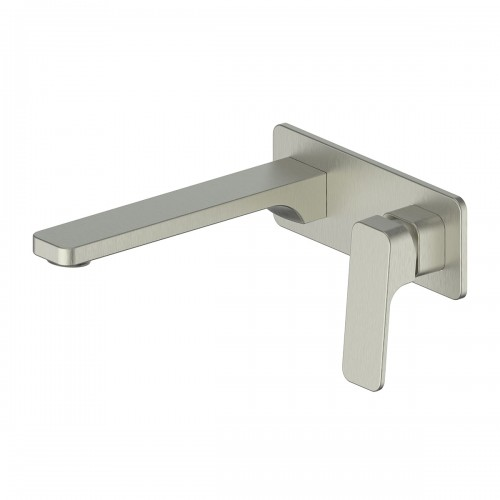 Swept Wall Basin Mixer W/plate/Brushed Nickel