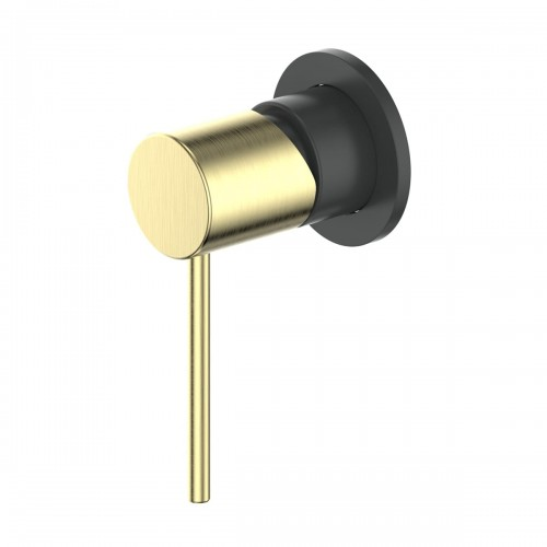 Gisele Shower/Bath Mixer/Matte Black/Brushed Brass
