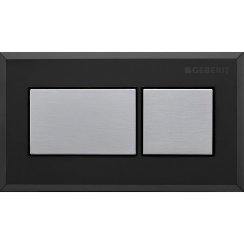 Sigma inwall/under counter square remote/Brushed chrome with black trim