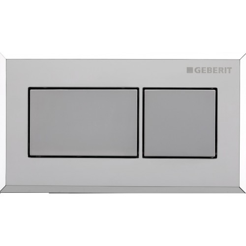 Sigma inwall/under counter square remote/Brushed chrome with chrome trim