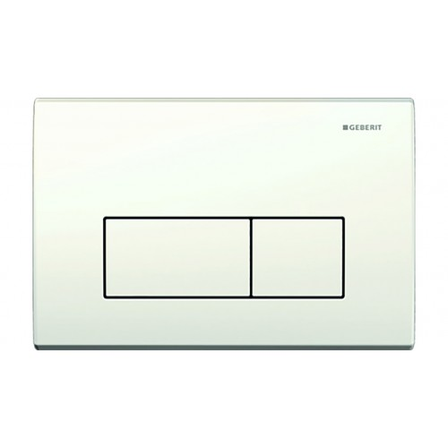 Kappa 50 Mechanical Dual Flush Button/Access Plate White/Chrome/White (Metal)