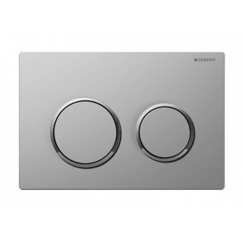 Kappa 21 Dual Flush Botton & Excess Plate/Matt plate with chrome trim