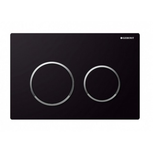 Kappa 21 Dual Flush Botton & Excess Plate/Black plate with chrome trim