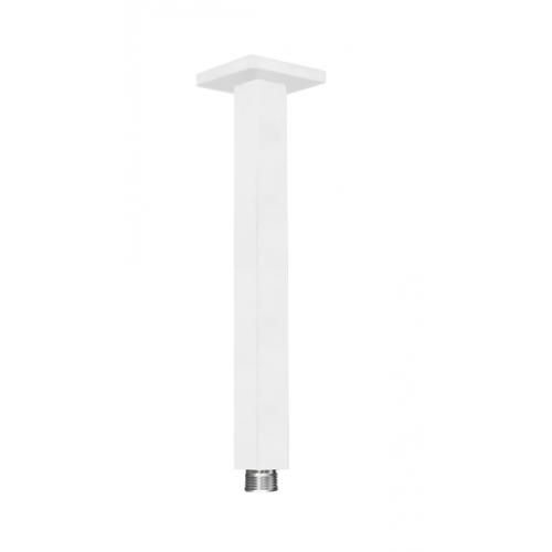 JamieJ Dusk 250mm Ceiling Shower Arm/Matte White