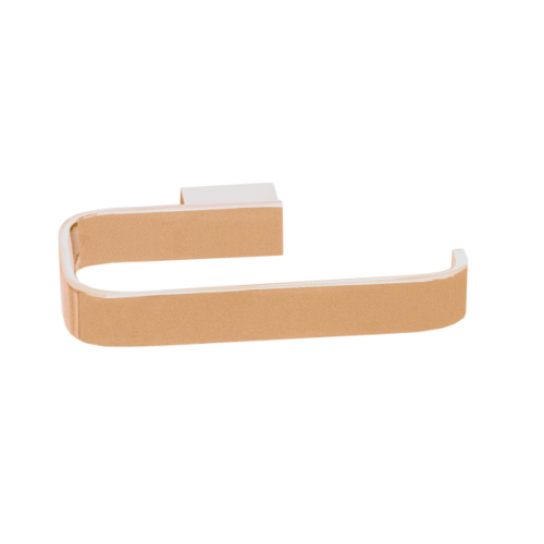 JamieJ Brooklyn Toilet Roll Holder/Polished Rose Gold