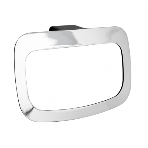 JamieJ Manhattan Towel Ring Matte Black/Chrome