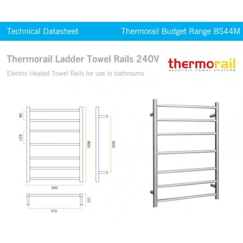 Thermorail Budget BS44M Heated Towel Rail