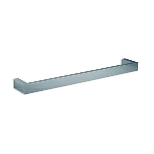 Thermorail Square Single Bar Heated Towel Rail/Brushed Stainless/632mm
