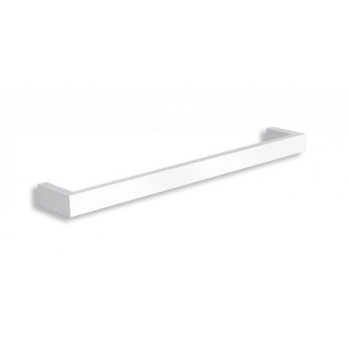 Thermorail Square Single Bar Heated Towel Rail/Satin White/632mm