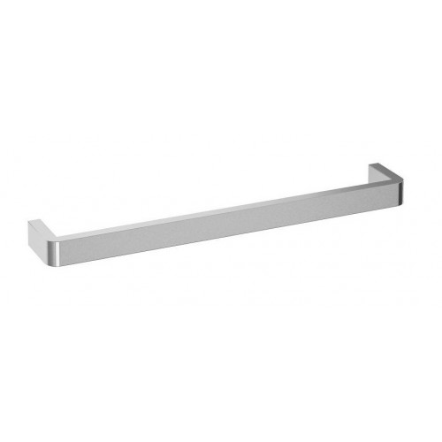 Thermorail Square Single Bar Heated Towel Rail/640mm/Curved Corners