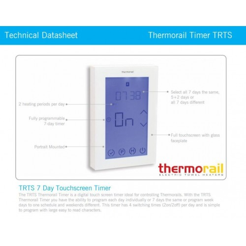 Thermorail 7 Day Touchscreen Timer