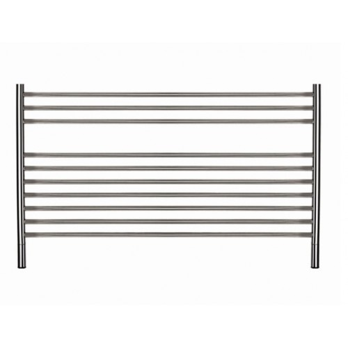 Thermorail Jeeves Polished Straight Round Ladder Heated Towel Rail with Shelf