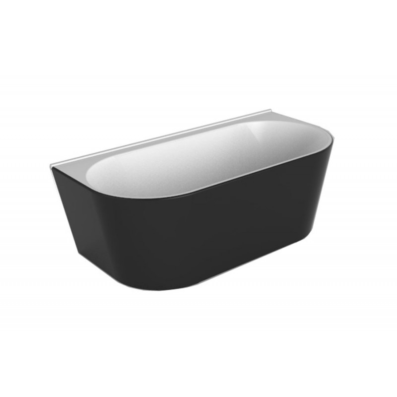 Decina Alegra 1700 Back To Wall Free Standing Bath/White/Black
