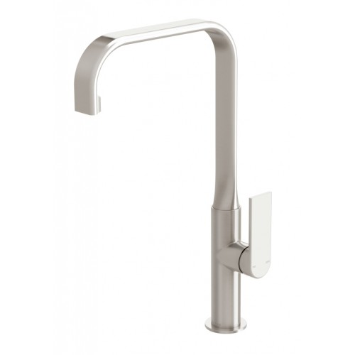 Phoenix Teel Sink Mixer 200mm Squareline/Brushed Nickel