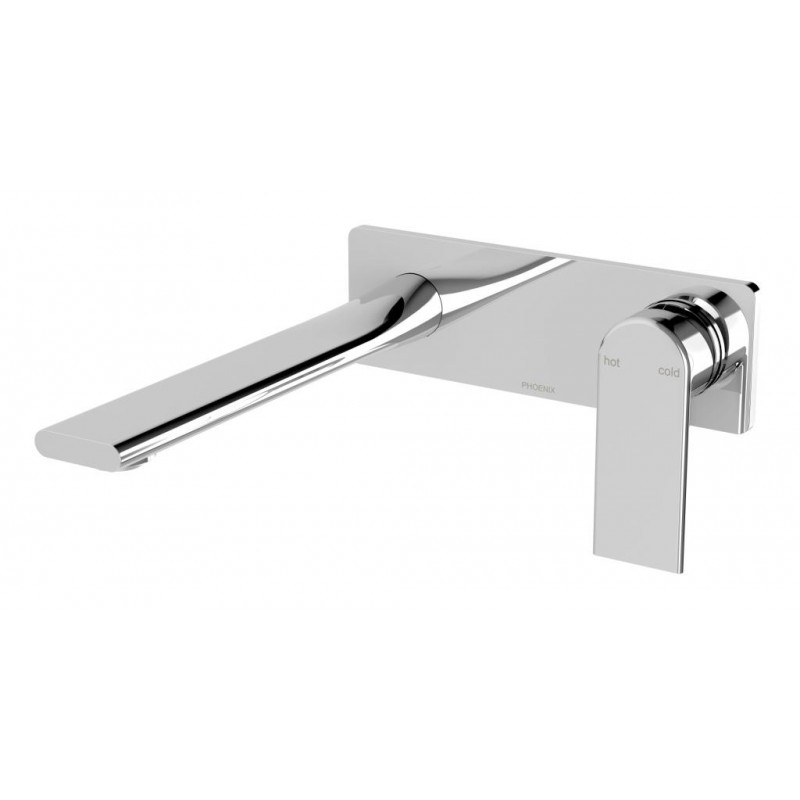 Phoenix Teel Wall Basin/Bath Mixer Set 200mm
