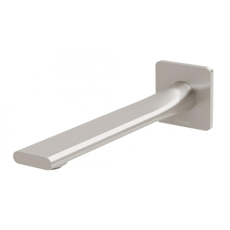 Phoenix Teel Wall Basin Outlet 200mm/Brushed Nickel