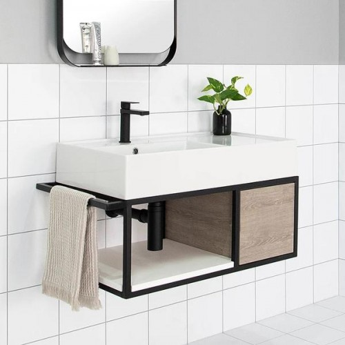 Antonio 600 Wall Hung Vanity/Left Hand Bowl